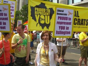 Bridget at London Pride 2009