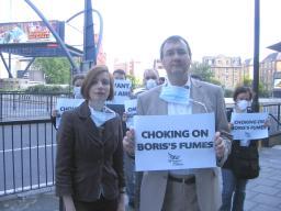 Bridget Fox and Mike Tuffrey: demanding cleaner air for Londoners